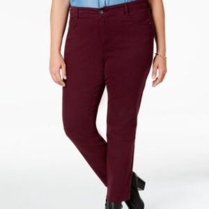 Style Co High Rise Tummy Control Slim Leg Jeans
